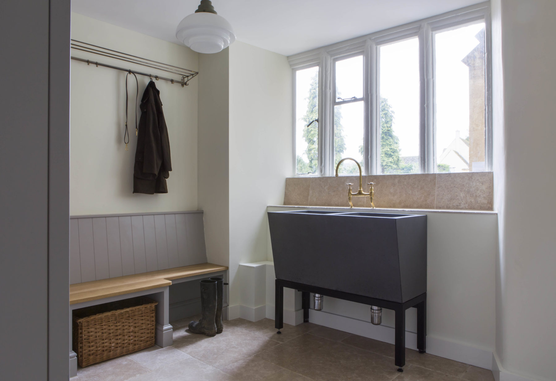 Langstaff-Ellis Bespoke Cabinetry and Sink Boot Room, Cotswolds